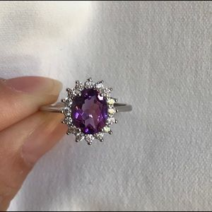 Jewelry - 🔥Natural Amethyst sterling silver ring